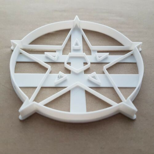 Pentacle Pentagram Amulet Shape Cookie Cutter Dough Biscuit Pastry Stamp Sharp