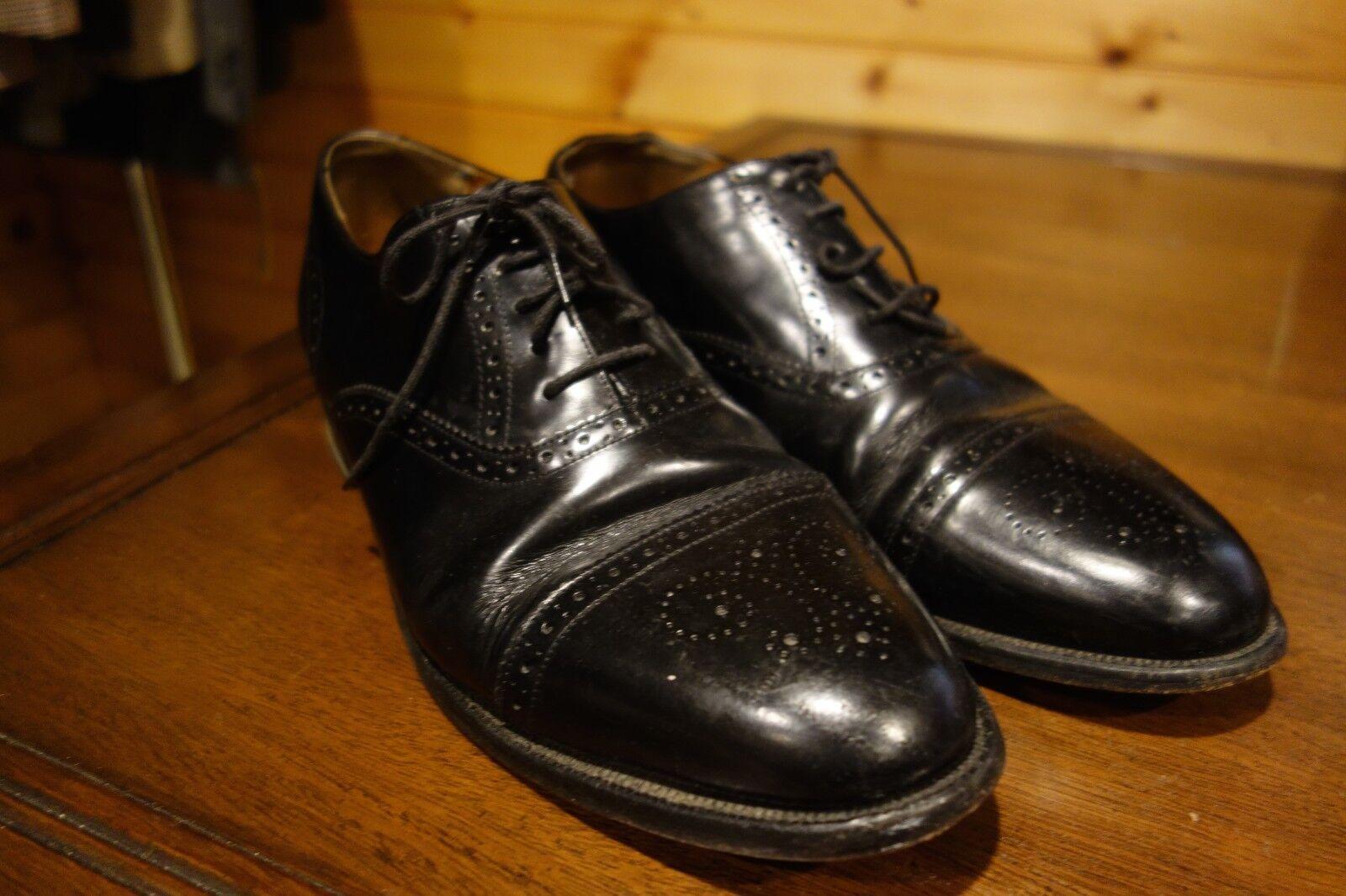 Zapatos De Vestir Barker Cuero Negro puntera Oxford 9.5 Inglaterra