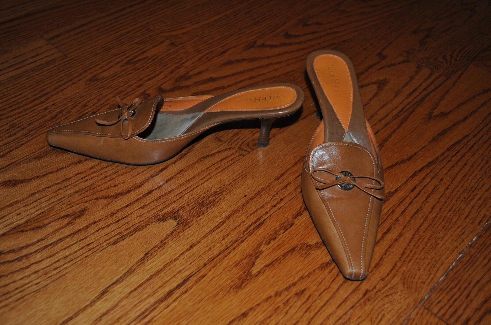 Damenschuhe 8.5 COLE HAAN Braun Leder HEELS Größe 8.5 Damenschuhe M MADE IN BRAZIL 70dc65