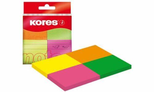 Kores Pagemarker Papier neonfarben 40 x 50 mm 200 Stück Haftstreifen Marker Tab