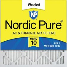 Nordic Pure 16x20x1 MERV 14 Pleated AC Furnace Air Filters 16x20x1M14-6 6 Pack