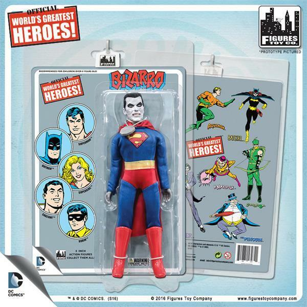 DC Comics Retro  Bizarro retro styled card card card 8   action figure MIP NEW sealed 3ac0aa