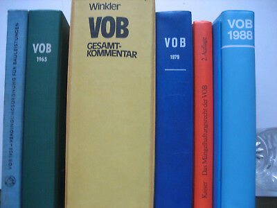 Honig 8-teilige Sammlung Vob Verdingungsordnung Für Bauleistungen 1958-1988 Neueste Mode Business & Industrie Fachbücher