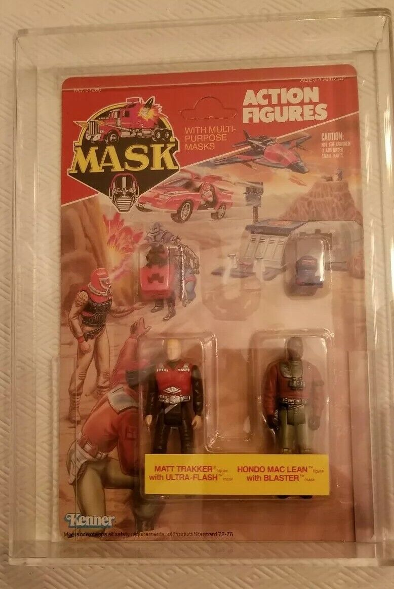 MASK Matt Trakker & Hondo MacLean    (Kenner, 1986) AFA 85 85 85 85 537f83