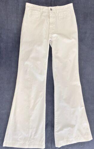 Vintage 1970s Chemin De Fer White Pants/Jeans Bell