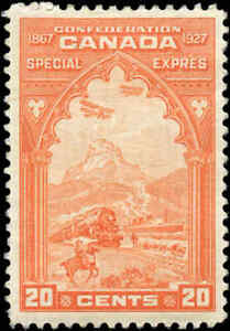 Mint-Canada-20c-1927-Scott-E3-Special-Delivery-Stamp-F-VF-Hinged
