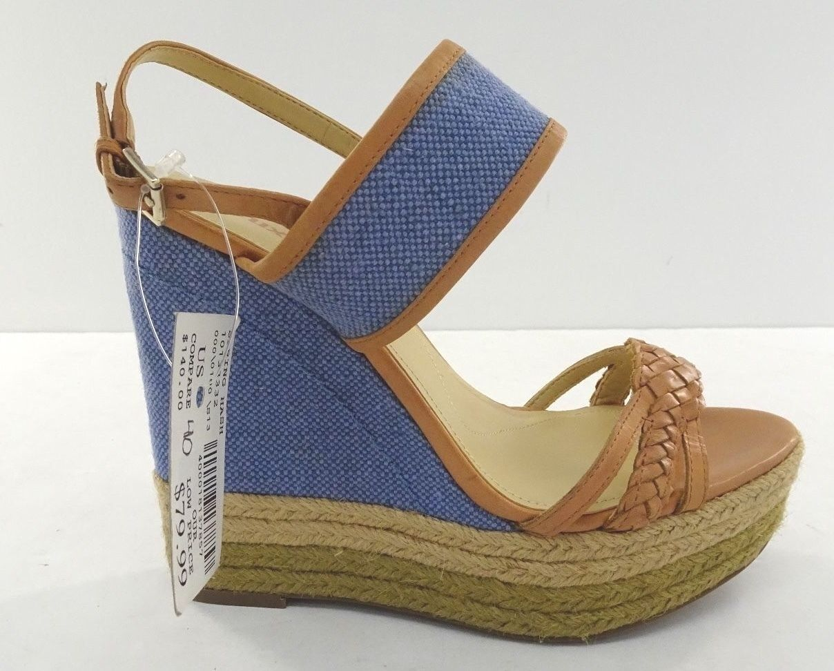 New - Womens Luxury Rebel  - bluee Tan -  US Size 9 9.5 - UK-40