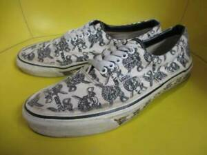 07d75fd9e7 VANS ERA Sneakers Men s Size 9 Skull Pirates Vintage Shoes Made in ...