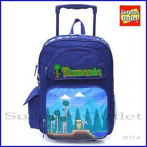 "Paw Patrol Rolling Backpack 16/"" Large School Rolling Backpack Roller Book Bag"