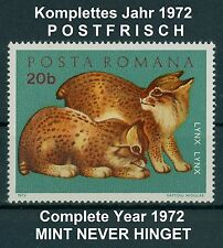 Rumänien 1972 komplettes ** Jahr,Mi.3005-3102,Block 93-103 ,Complete Year 1972