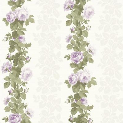 3 Rolls X Heritage Lilac Cream Rose Floral Wallpaper FD40168 Fine Decor