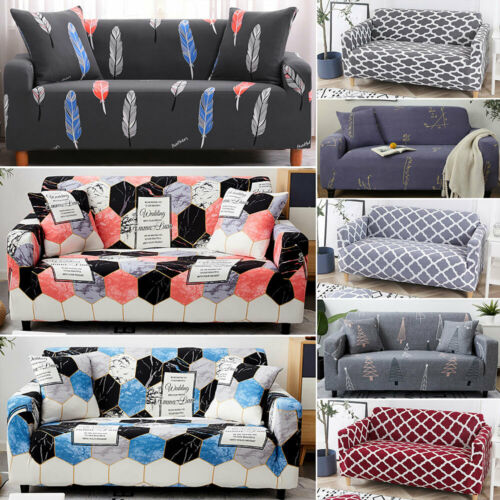 1234 plazas sofá de tela Lavable Antideslizante Cubre Sofá Funda Protector de Reino Unido