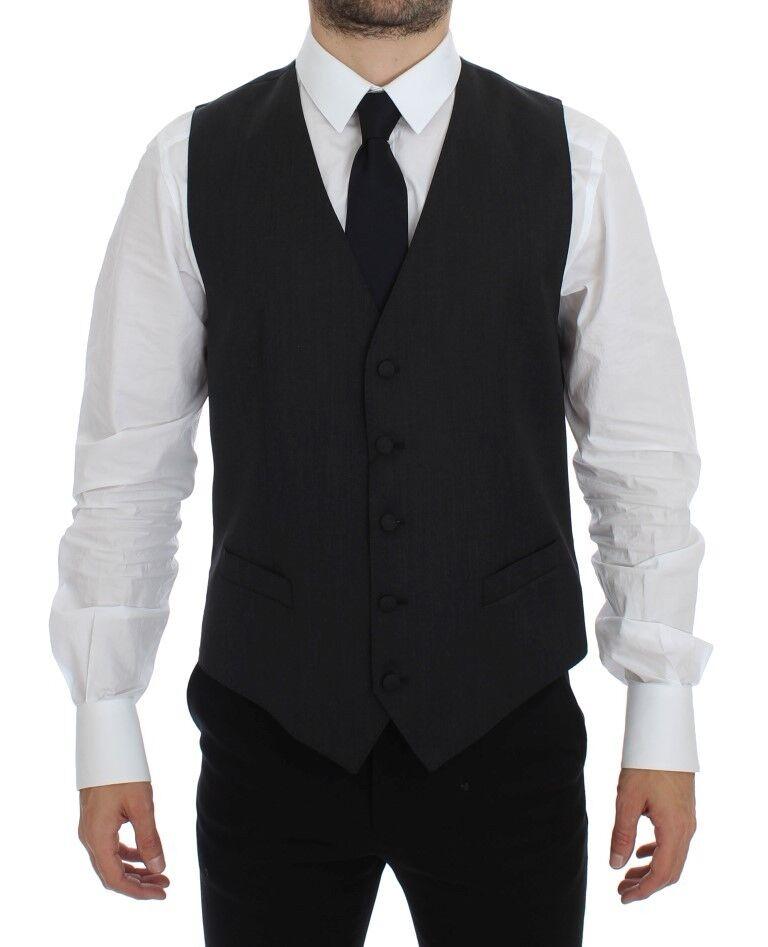 NWT 340 DOLCE & GABBANA grau Wool Blend Formal Dress Vest Gilet IT50 /US40 / L