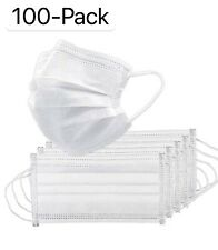 100 Pcs White Face Mask Mouth Amp Nose Protector Respirator Masks With Filter Usa