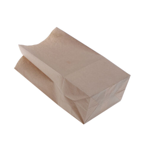 10X Food-Grade Kraft Paper Gift Bags Craft Packing for Food Snace and Bread JS