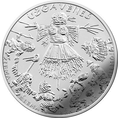 Traditional Lithuanian Celebrations Lithuania 1,5€ euro coin 2019 Užgavėnės