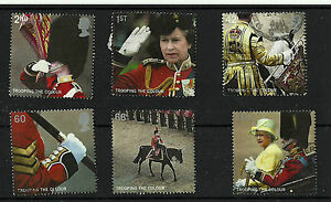 QE2-2005-FU-SG2540-45-TROOPING-THE-COLOUR-STAMPS-SET