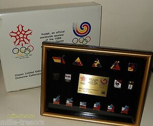 RARE-Coffret-PIN-039-S-J-O-numerote-KODAK-Official-Sponsor-of-OLYMPIC-GAMES-1988