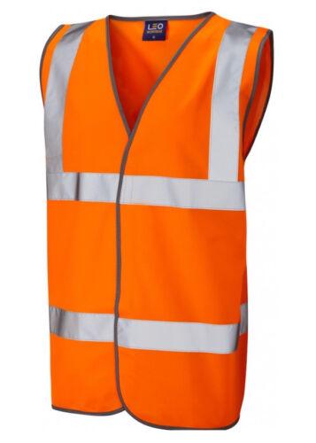 M NEU OVP LEO WORKWEAR Warnweste TARKA W01-O-LEO orange Gr