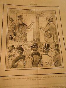 Alerte Caricature 1893 - Election Cadémique Adopter L'usage Des Bookmakers Renforcement Des Nerfs Et Des Os