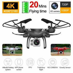 Drone X Pro 4K HD Dual Camera Wide Angle WiFi FPV Quadcopter RC Remote Aircraft