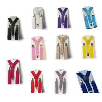 Toddler Kids Baby Adjustable Suspender Girl Boy Clip-on Elastic Y-back Braces