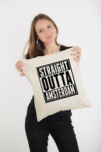 Straight-Outta-Amsterdam-Slogan-Natural-Shoulder-Printed-Tote-Bag