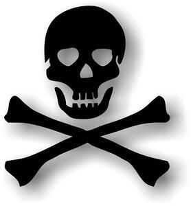 Sticker-adesivi-adesivo-auto-moto-tuning-pirata-biker-craneo-teschio-nero