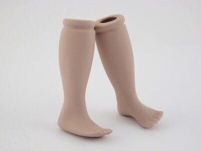 1 Paar alte Art Deco Porzellan Puppenbeine Beine für Puppe 6,5 cm lang