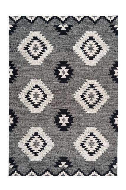 Ethno Teppich Abstraktes Muster Creme Beige