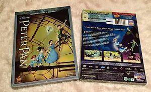 PETER PAN DVD + BLU-RAY 2-Disc Set Diamond Edition New Disney *Free Shipping