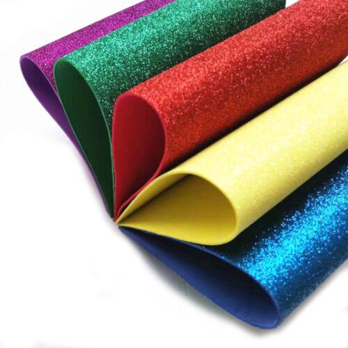HOT A4 Glitter EVA Foam Paper Sheet Sponge Soft Handmake Crafts Kids DIY 1-5PCS