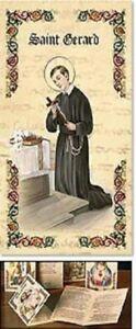 Saint-St-Gerard-Patron-Prayer-Folder-Catholic-Gift-Gold-Stamped-Cardstock