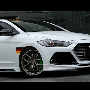 Front Rear Lip Side Skirts Body Kits Unpainted For Hyundai