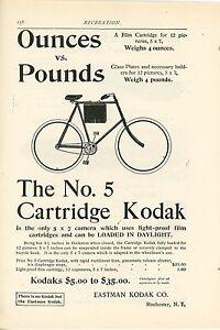 1898-Kodak-No-5-Cartridge-Camera-amp-Film-Ad-Carrying-on-Bicycle-Photography
