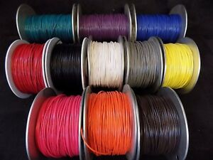 22 GAUGE GPT WIRE PICK 8 COLORS 25 FT EA PRIMARY AWG STRANDED 100% OFC COPPER