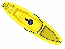 Yellow sit-on-top Recreational kayak 9FT with detachable Paddle - Five Oceans