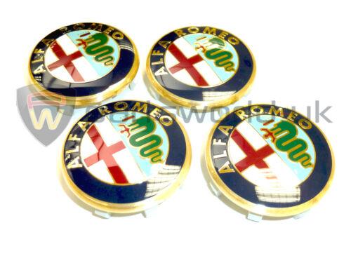 Set de 4 officiel véritable ALFA ROMEO 145 50mm roue en alliage centre caps 60652886