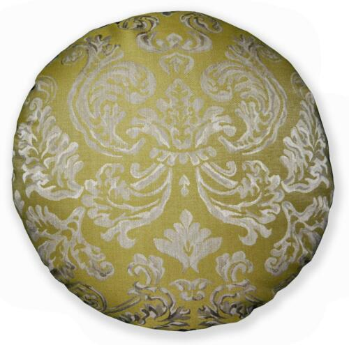 HC lt.olive pâle tan beige LT Bourgogne rouge jacquard forme ronde coussin couverture