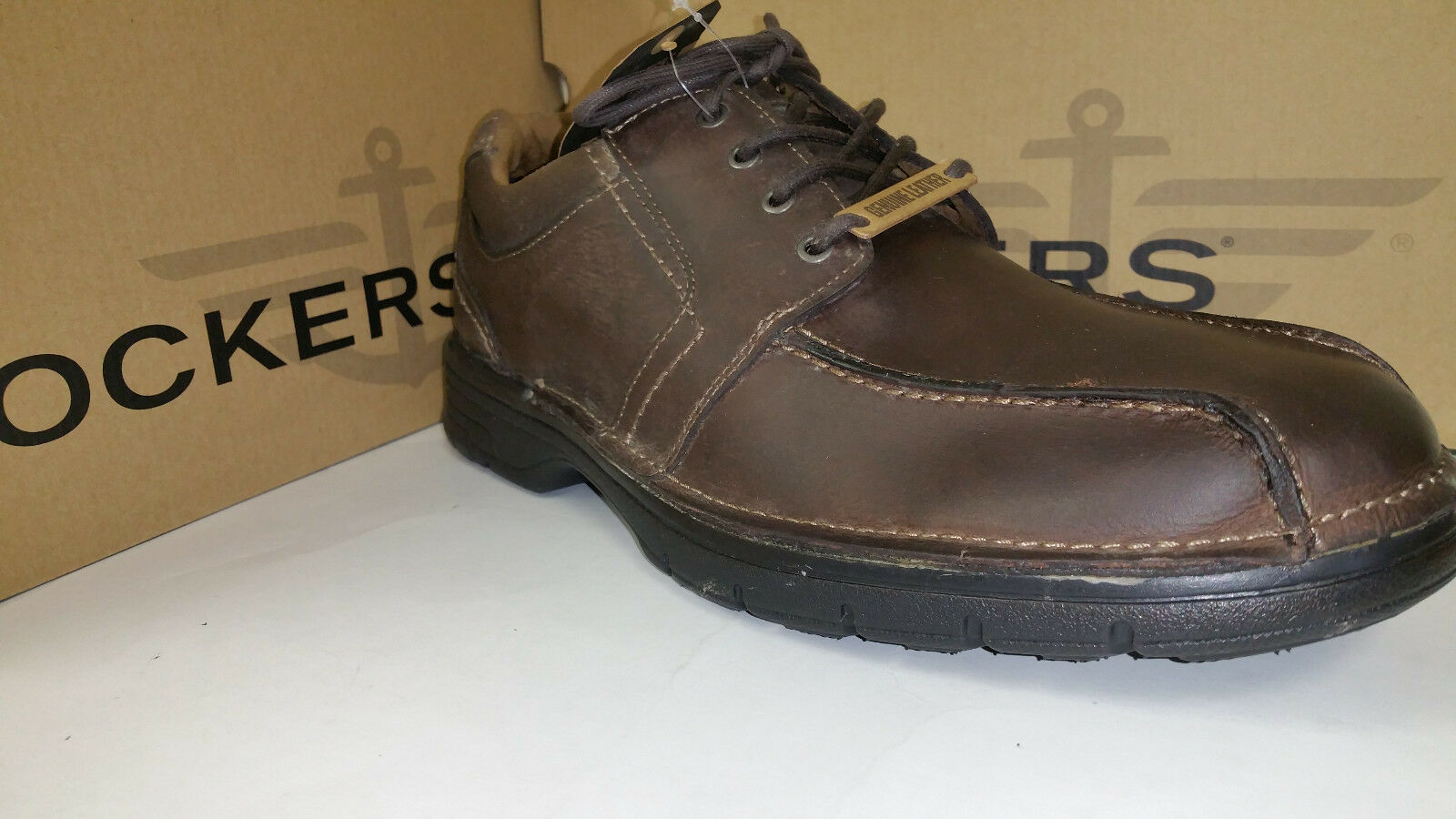 Scarpe casual da uomo  Dockers Lawtner Light Weight Chocolate Leather Casual Shoes size 7-12