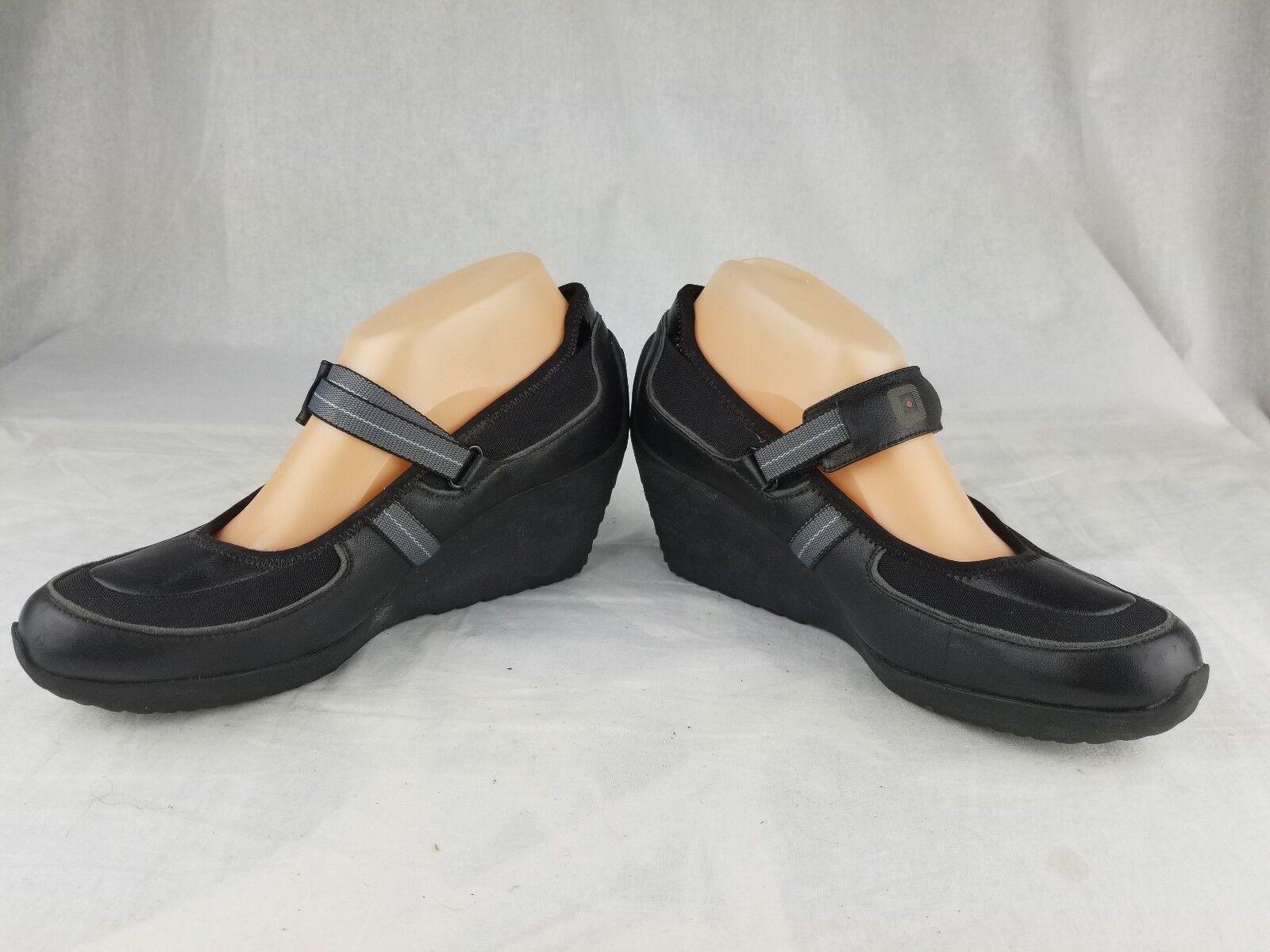 Donna  TSUBO COTIS sporty futureristic wedge Mary Jane scarpe US 9 nero  disponibile