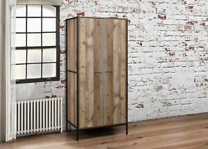 image is loading birlea urban industrial chic 2 door small wardrobe - Small Wardrobe