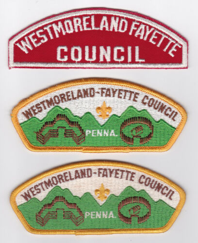 USA BOY SCOUTS OF AMERICA WESTMORELAND FAYETTE COUNCIL SHOULDER PATCH R&W CSP