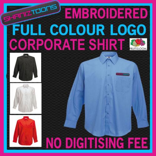 X5 Workwear Business Camicia a maniche lunghe colore RICAMATO LOGO digitalizzate
