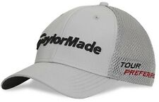 TaylorMade Tour Preferred SLDR Gray Golf Hat Cap Mesh Back Adult Flex Fit L/XL