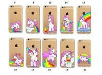 Rainbow Unicorn Bumper Unique Clear Phone Case for iPhone 5 5C SE 6 6 Plus 7 7P