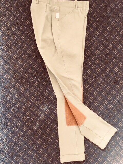 TAILORED SPORTSMAN JODHPURS Sz 14-20 Youth Tan NEW w Cuffs Side zip