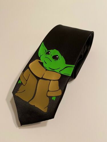 Great Gift Birthday Cool Fun New Details about  /Baby Yoda Necktie Groomsmen