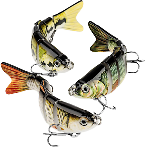 CharmYee Bass Fishing Lure Topwater Bass Lures Fishing Lures Multi Jointed Hard