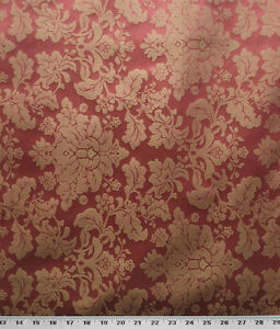 Drapery Upholstery Fabric Tone On Tone Floral Damask 114 W